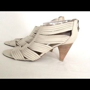 Shoes - Donald J Pliner  bone leather peeptoe ankle bootie