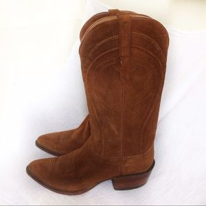 Lucchese Shoes - Lucchese suede western boots