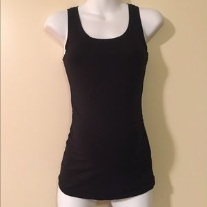 GAP maternity fitted tank small black