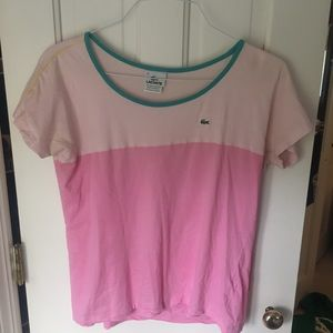 Lacoste Tops - pink crew neck || lacoste