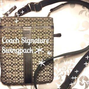 Coach Handbags - Coach Black Signature Swingpack Crossbody [F36210]