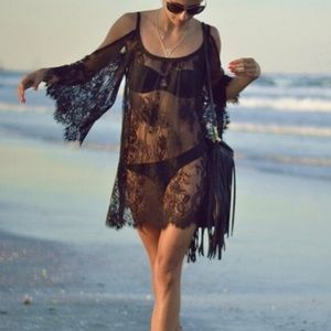 All lace beach cover up