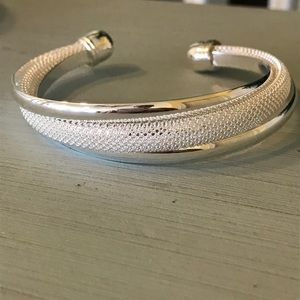 Jewelry - New Sterling plated mesh bangle