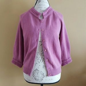 Love Moschino Sweaters - Love Moschino Purple Cardigan Sweater