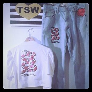 fashion magazine Jackets & Blazers - WHITE BOLERO SNAKE JACKET 3 XL