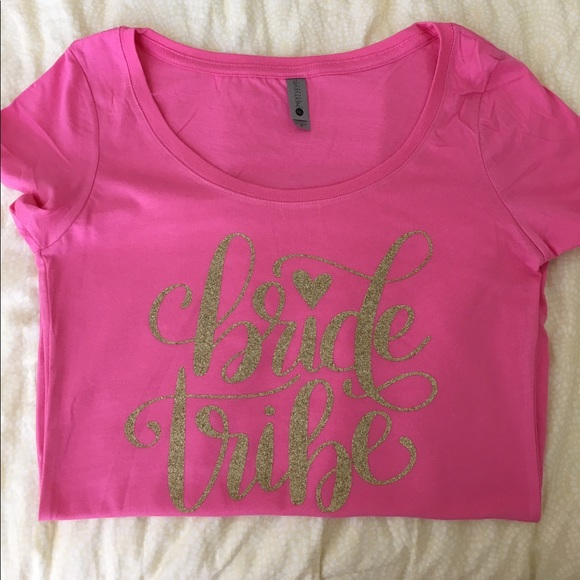 50 off tops bride tribe shirt new custom made to for Do gucci shirts run small