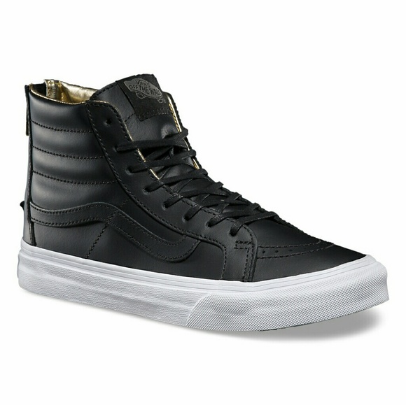 0084fb5ec9 Vans leather sky Hi slim zip me w9.5. M 59163c66f0137d8efc01aeb2