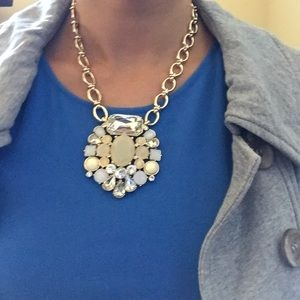 Statement gold necklace, new, never worn