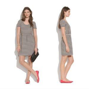 Madewell black striped dress