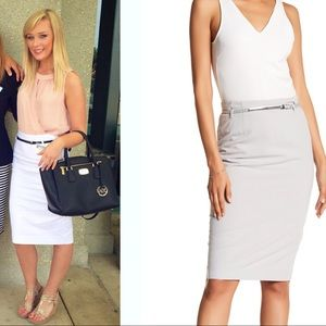 Amanda & Chelsea Dresses & Skirts - High waisted white fitted pencil skirt