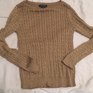 Gold Cable Knit Ralph Lauren Sweater