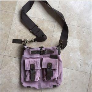 Sundance catalog real leather shoulder bag