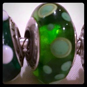 Pandora Jewelry - Genuine Pandora Glass Charm Green Bubbles