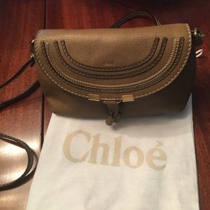 Chloe Handbags - Lk New Chloe CrossBody Marcie In TanPebbled Leathr