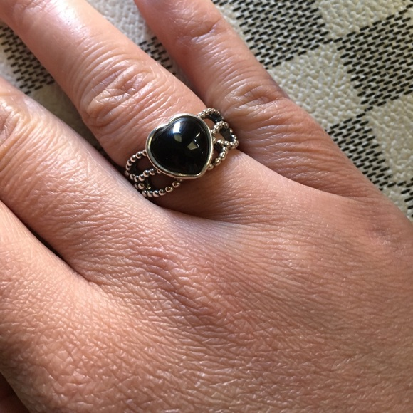 edcf413f862f8 Authentic Pandora Mi Amore Silver Onyx Ring
