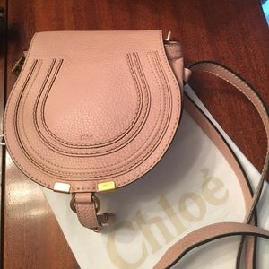 Chloe Handbags - NWOT Chloe Pink Pebbled Leather Mini Marcie Bag