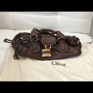 Auth Chloe Paddington medium bag chocolate