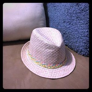 Accessories - Straw pinkish silver hat