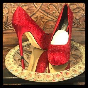 873256e7116c Aldo Shoes - ALDO Red Sparkly Pumps