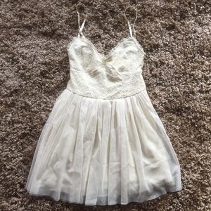 Lace. And. Tulle. Babydoll. Dress.