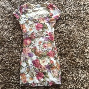 Cute. Floral. Mini. Dress.
