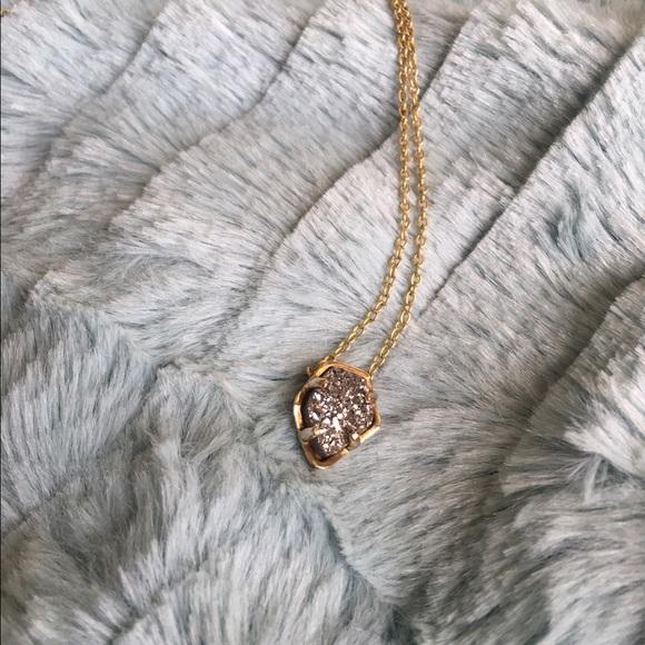 bac5bd9f8 Kendra Scott Jewelry - Kendra Scott Tessa Necklace Gold/Platinum Drusy