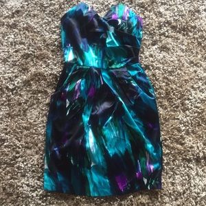 Cute. Multicolored. Strapless. Dress. W/Pockets.