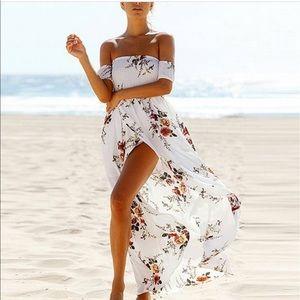 Wildflower Dresses & Skirts - Off the Shoulder Floral Dress