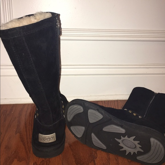 41 Off Ugg Shoes Black Ugg Avondale Studded Boots Gold