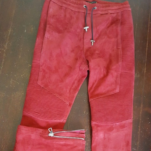 ff9f9ffc Balmain Other - Balmain x H&M red leather pants