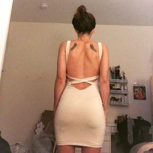 Forever 21 never worn low back body con dress
