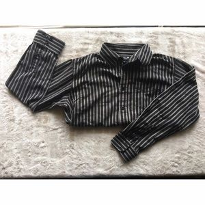 Ezekiel Other - Black and Grey Striped Dress-Shirt