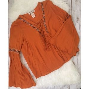 Flying Tomato Tops - Flying Tomato gypsy flowy top sz medium