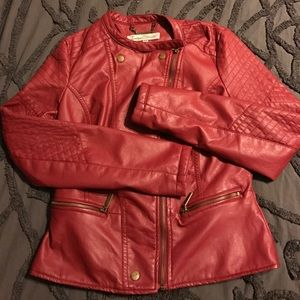 Red Leather Jacket from indigo Saints