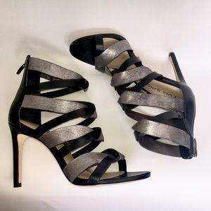 Via Spiga Shoes - NWOB Via Spiga Elyse black and silver sandals