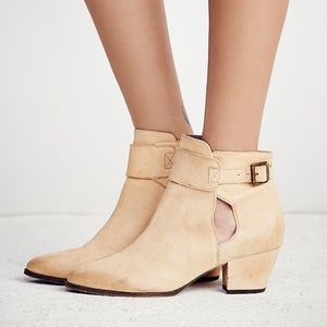 Free People Belleville Ankle Boots Natural