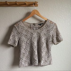 Lucca Couture Tops - Lace Cropped Top