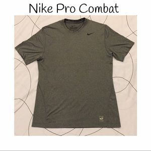 Nike Other - NIKE PRO COMBAT dry-fit fitted t-shirt in gray!