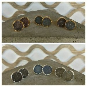 Simple Sanctuary Jewelry - SALE⭐️ Round Natural Druzy Earrings