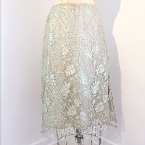 Dosa Dresses & Skirts - Dosa Metallic Lace Skirt