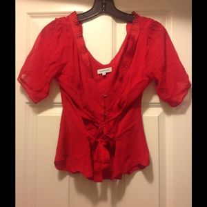 Costume National Tops - Red blouse costume national