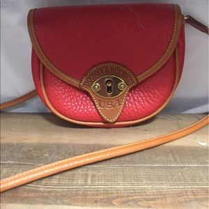 Dooney & Bourke Handbags - Petite Dooney & Bourke Red Leather Crossbody