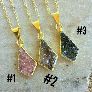 Simple Sanctuary Jewelry - Flash SALE 💟 Petite Natural Druzy Kite Necklace