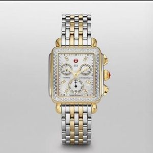 Michele Accessories - Michele deco diamond two tone watch!