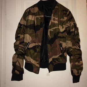 Jackets & Blazers - Camo Bomber Jacket , trade, price negotiation