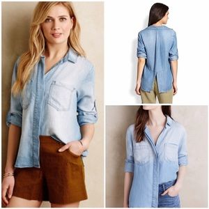 anthropologie // cloth & stone chambray top