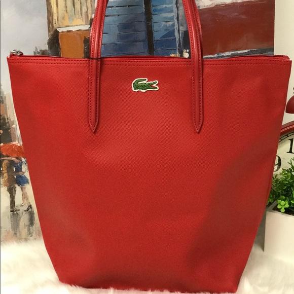 3985e1706db Lacoste Bags | Final Price Vertical Tote | Poshmark