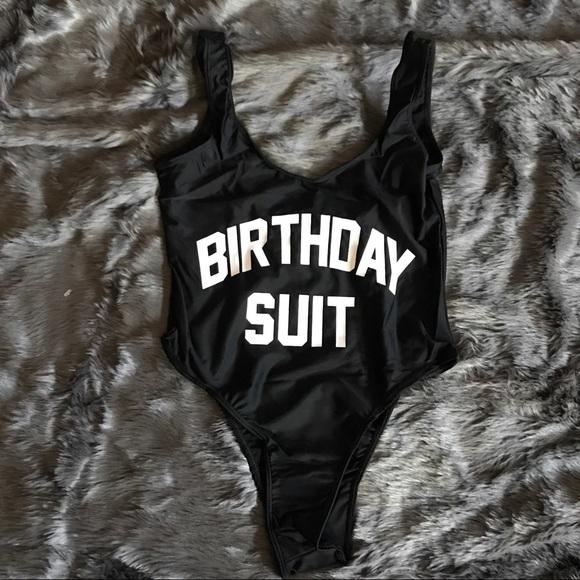 Swim Birthday Suit Suit Brand New Poshmark