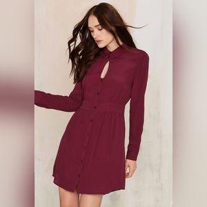 Keyhole Collared Dress