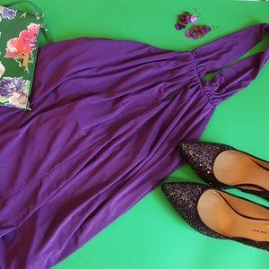Tops - purple peekaboo  halter NWOT